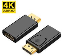 DisplayPort HDMI Adapter Konverter DP 1.2 zu HDMI 1.3 1440P 4K Full HD 1080P