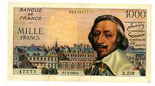 France ... P-134a (..47777) ... 1000 Francs ... 1956 ... *VG+*