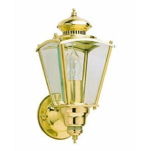 3pk Polished Brass Coach Style Motion Activated Security Light  HZ-4150-PB