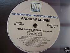 """ANDREW LOGAN Love Can Be Enough USA PROMO - 12"""" Single"""
