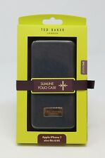 Ted Baker Slimline Folio iPhone 7/6/6S Case Leather Effect Wallet Aries NAVY