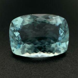 3.6ct Blue  Aquamarine, Cushion, Portuguese Cut, VVS Natural Gemstone *Video*