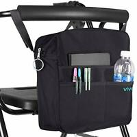 Vive Rollator Bag - Universal Travel Tote for Carrying Accessories on Wheelchair