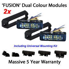 2 X Dual Colour LED Strobe Warning Lights Like Whelen Woodway Premier Hazard