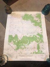 Lot of 2 Vintage 1956 DEPT OF INTERIOR Topographic Maps- Nevada -California