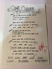 More details for miles kane -  signed autographed lyric sheet 8 x 12