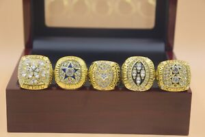 5pcs 1971 1977 1992 1993 1995 Dallas Cowboys Championship Ring !-/