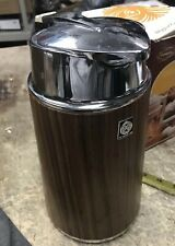 VINTAGE TIGER FAUX WOOD & CHROME COFFEE CARAFE THERMOS VACUUM FLASK BOTTLE URN