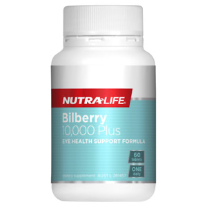 Nutra-Life Bilberry 10000 Plus 60 Tablets Lutein Eye Vision Health NutraLife