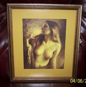 "EVELYN EMBRY, ""MONICA"" SIGNED FRAMED, NON GLARE GLASS"