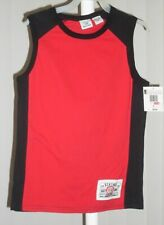 Boys Sleeveless Shirt Red and Black Green Dog NWT 7X