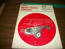 Dodge Motor Home Chassis Service manual for M-300,375, Rm-300,350,400 Models