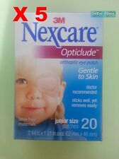 "3M NEXCARE OPTICLUDE JUNIOR 1537 Orthoptic Eye Patch 5 Box/ 100pcs 2.44""x1.81"""