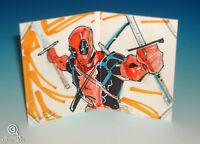 2012 Marvel Premier Deadpool Sketch Card Cruddie Torian Upper Deck Hinged UD 1/1