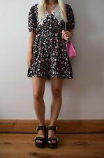 Zara vestido floral con cuello con cuello Talla S Pequeño BNWT