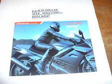 Honda Vfr800f Sales Brochure Including Anniversary Model