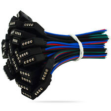 10x 5050 RGB 4 Pin Female Connector Cable Cord for LED Strip Extension SMD 9 cm
