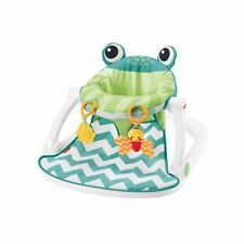 Fisher-Price Sit-Me-Up Floor Seat with 2 Linkable Toys, Citrus Frog Other