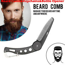 Stainless Steel Beard Comb Men Mustache Brush Shaving Shaping Tool