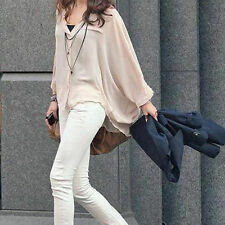 Chiffon Casual Solid Button Down Shirt Tops for Women
