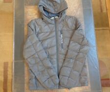 Mens Nautica Hooded Down Puffer Winter Jacket Size Medium Dark Gray