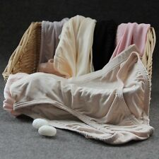 Women 100% Silk Knitted Briefs Panties Soft Knickers Shorts Underwear Lingerie