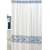 Tenda doccia bagno greca antimuffa pvc impermeabile ganci inclusi made in italy
