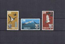 CHINE FORMOSE série Oiseaux Hirondelle grue  N° Yvert 434/436 3 timbres neufs X