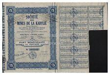 PART BENIFICIAIRE MINES DE LA KABYLIE
