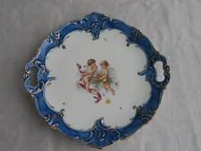 alter Keramik Zierteller Teller Schale Engel Putten Dekor 19. Jahrhundert