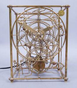 Kinetico Gordon Bradt Kinetic Sculpture 6 Man Brass Tabletop Clock