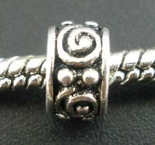 50 Perles intercalaires Motif pr Bracelet charm 8x5mm