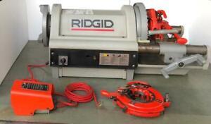 "RIDGID 1224 PIPE THREADER/ THREADING MACHINE WITH 2 HEADS120V 1/2""-4"" SIZE #3"