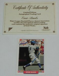 ERNIE BANKS 1993 Nabisco All-Stars AUTO Autograph Card w/ COA - HOF - CUBS