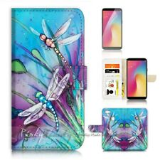 ( For Oppo A73 ) Flip Wallet Case Cover P21094 Dragonfly