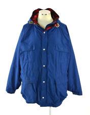 Vtg Ll Bean Wool Plaid Flannel Lined Blue Baxter State Parka Coat Jacket Mens L