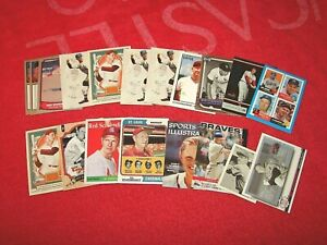 RED SHOENDIENST BRAVES CARDINALS HOF LOT OF 20 CARDS WITH INSERTS (18-73)