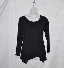 Linea by Louis Dell'Olio Long Sleeve Peplum Knit Tunic Size 1X Black