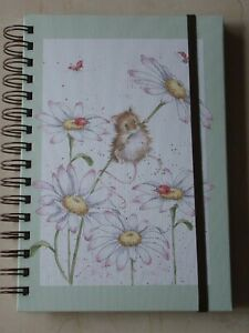 Gorgeous WRENDALE A5 Spiral Notebook 'OOPS A DAISY' - FIELD MOUSE - NEW