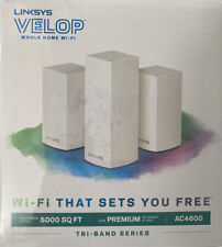Brand NEW Linksys Velop AC4600 Whole Home Intelligent Mesh WiFi System Tri-band
