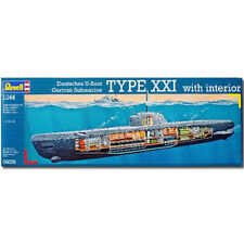 REVELL U-Boat XXI Type w. Interieur 1:144 Model Kit - 05078