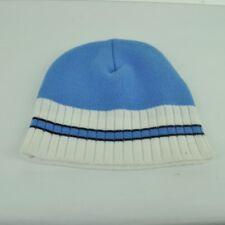 Beanie Plain Blank Baby Blue Headgear Cuffless Acrylic Headwear Stripes