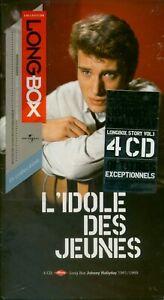 Johnny-Long Box-Tirage limité&numéroté-L idole des jeunes- 4cd s + livre-2004