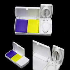 Travel Pill Case Splitters Medicine Organizer Divider Pills Box Tablet Cutter FO