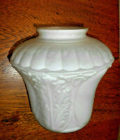 "Vintage Art Deco Satin Glass lamp shade embossed pattern hanging shade 4""  (Z)"