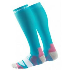 Skins Women's Active Essentials Compression Socks Bright Blue/bright Pink Large