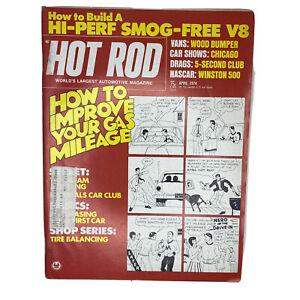 Hot Rod Magazine Original Vintage April 1974 Smog Free V8