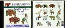 1 New Dakota Collectibles Wildlife Outline Portraits 970535*Free Cd & T-Shirt*