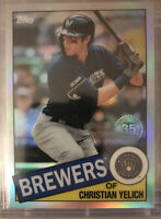 2020 Topps Chrome Christian Yelich '85 Style Refractor 85TC-15 Milwaukee Brewers