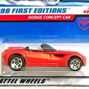 Hot Wheels Dodge Concept Car Red 1998 First Editions 35/40 Mint on Card